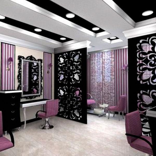 decoración para centro de belleza